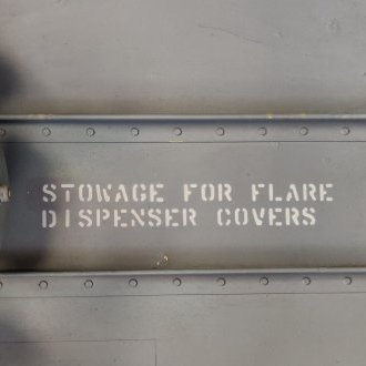 Stowage for flare Dispenser covers